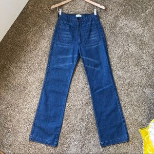 Doen Maritime High Rise Jeans Antibes Wash Size 25
